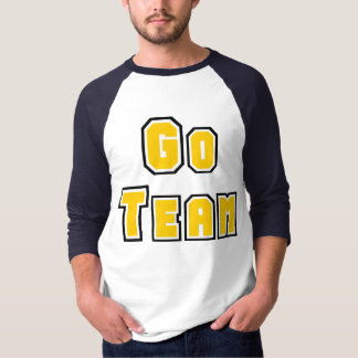 Go Team Yellow and Blue Tee Shirt
