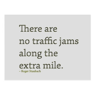 Go the Extra Mile - motivational postcard
