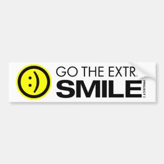 Go The Extra Smile Bumper Sticker