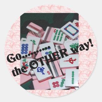 """Go the other way""  mah jongg stuff Sticker"