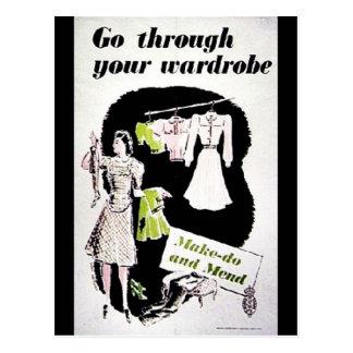 Go Through Your Wardrobe Postcard