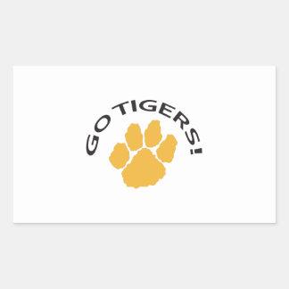 GO TIGERS RECTANGLE STICKER
