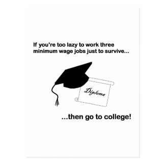 Go to college postcard