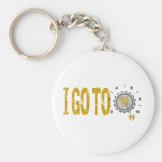 Go To Eleven 11 Text Design Keychain