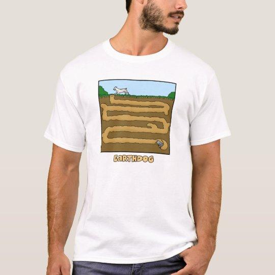 Go to Ground Cartoon Earthdog T-Shirt