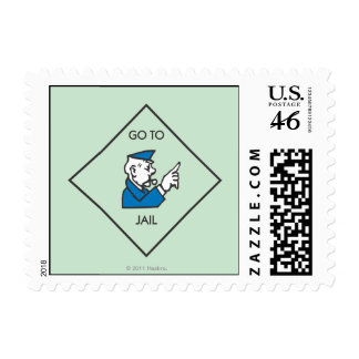 Go to Jail - Corner Square Postage Stamps