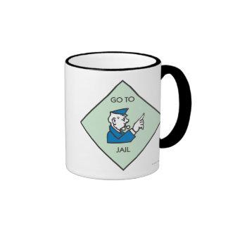 Go to Jail - Corner Square Ringer Coffee Mug