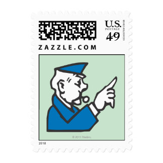 Go to Jail Postage Stamp