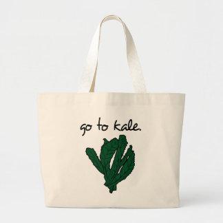 go to kale. (kale) <script> large tote bag
