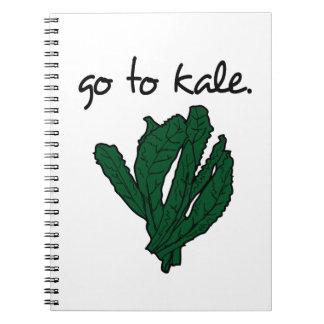 go to kale. (kale) <script> spiral notebook
