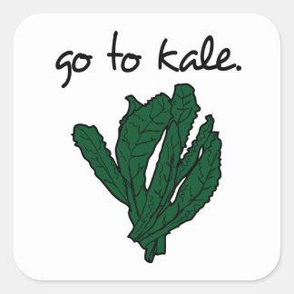 go to kale. (kale) <script> square sticker