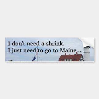 Go to Maine bumpersticker. Missing Maine Bumper Sticker