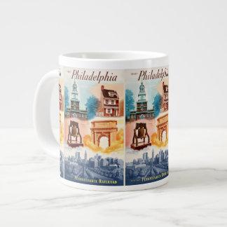 Go To Phila.on The Pennsylvania Railroad Jumbo Mug