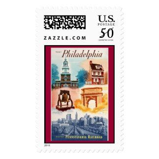 Go To Phila.on The Pennsylvania Railroad Postage
