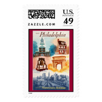 Go To Phila.on The Pennsylvania Railroad Postage