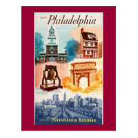 Go To Phila.on The Pennsylvania Railroad Postcard