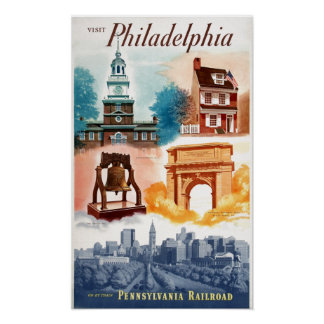 Go To Phila.on The Pennsylvania Railroad Poster