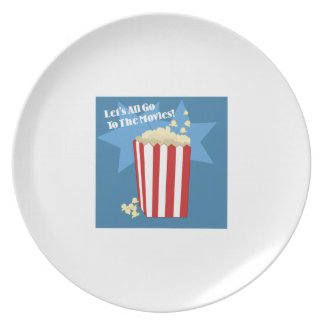Go To The Movies Party Plate
