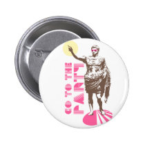 dancing, party, funny, cool, friday night, 80's, college, vector, statue, humor, vintage, fun, trendy, holiday, best, Button with custom graphic design