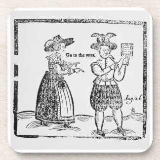 Go to the Wars, illustration from a pamphlet showi Coasters