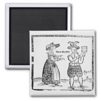 Go to the Wars, illustration from a pamphlet showi 2 Inch Square Magnet