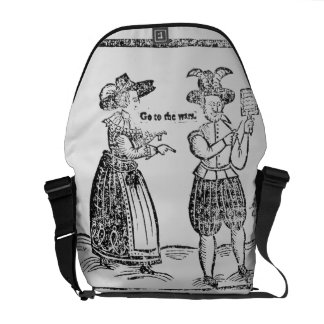 Go to the Wars, illustration from a pamphlet showi Messenger Bag