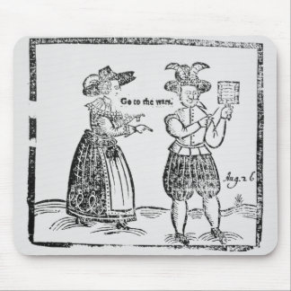 Go to the Wars, illustration from a pamphlet showi Mouse Pad