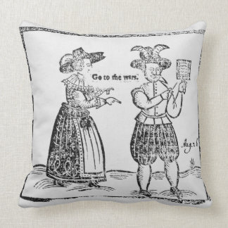 Go to the Wars, illustration from a pamphlet showi Pillows