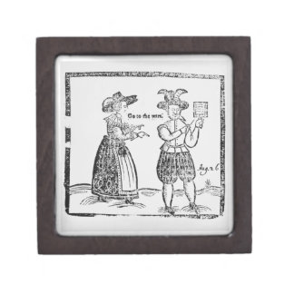 Go to the Wars, illustration from a pamphlet showi Premium Keepsake Box