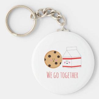 Go Together Basic Round Button Keychain