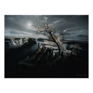 Go toward the light,  neosurrealism poster print