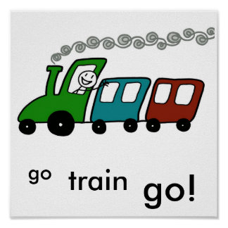 Go Train Go! Posters