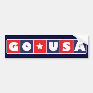 Go USA Bumpersticker Bumper Sticker
