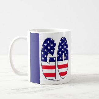 Go USA flag olympics team souvenir mug