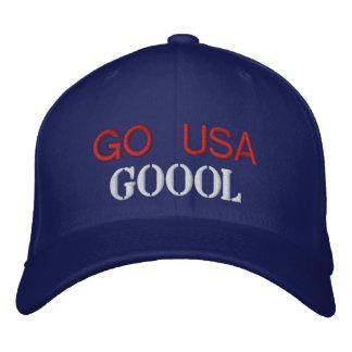 GO USA GOOOL EMBROIDERED BASEBALL CAPS