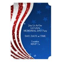 Go USA! Memorial Day Party Invitation