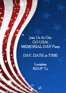 memorial day invitations zazzle