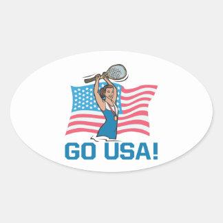 Go USA Oval Sticker