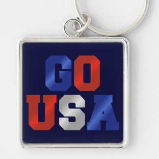 GO USA Red White And Blue Keychain