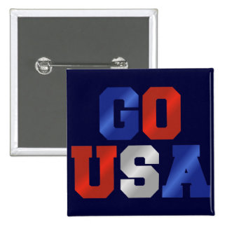 GO USA Red White And Blue Pin