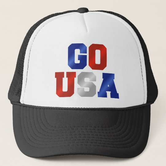 GO USA Red White And Blue Rally Cap