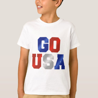 GO USA Red White And Blue Shirts