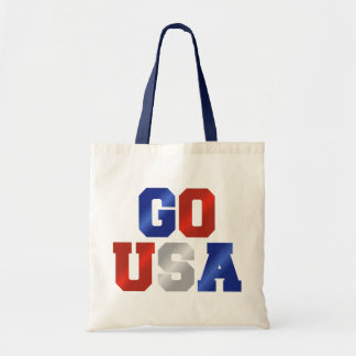 GO USA Red White And Blue Tote Bag
