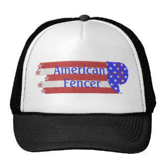 Go USA Red White Blue American Fencer Hat