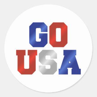 GO USA Red White & Blue Stickers