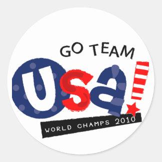 Go USA soccer items Classic Round Sticker