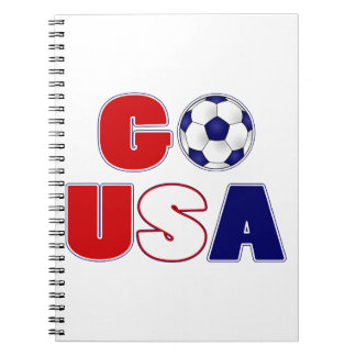 Go USA Soccer Spiral Notebook