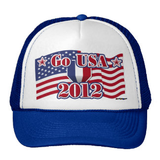 Go USA! with America flag - 2012 Trucker Hat