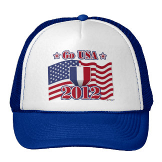 Go USA with America flag Trucker Hat