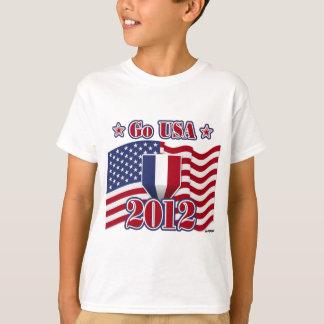 Go USA! with America flag T-Shirt